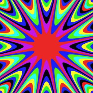 colorful explosion graphic design