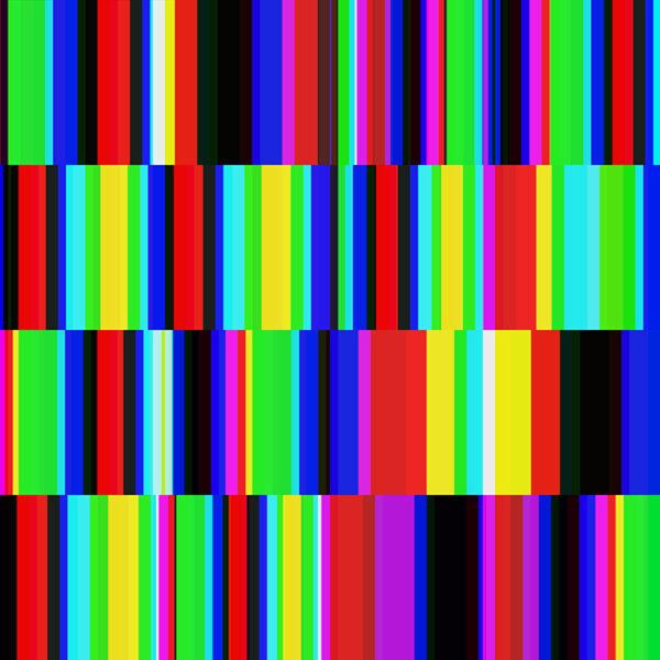 colorful modern block print