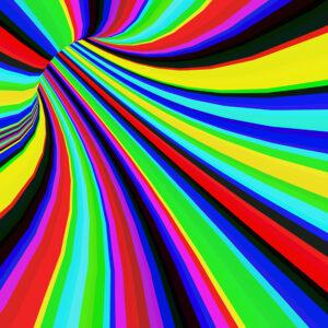 rainbow tunnel graphic