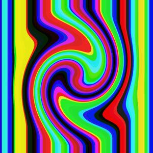 warped stripes graphic