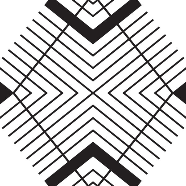 striped diamond graphic