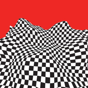 checkerboard wave graphic