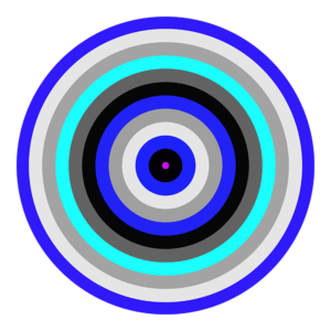 blue striped circle