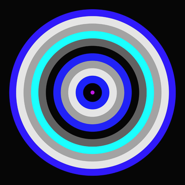 blue striped circle