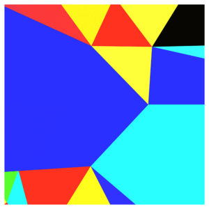 colorful geo shapes